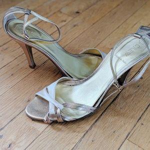 J crew gold  heel sandals